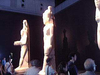 エジプト展のようす