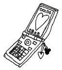 イラスト-携帯